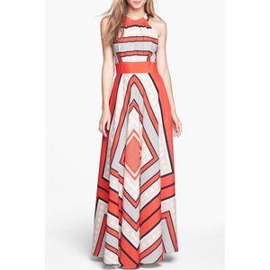 Eliza J Scarf Geometric Print Maxi Dress